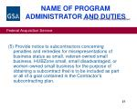 name of program administrator and duties27