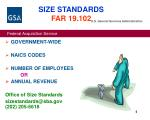 size standards far 19 102