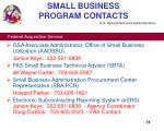small business program contacts