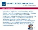 statutory requirements3