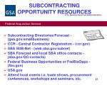 subcontracting opportunity resources