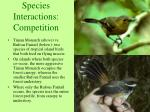 species interactions competition