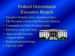 federal government executive branch