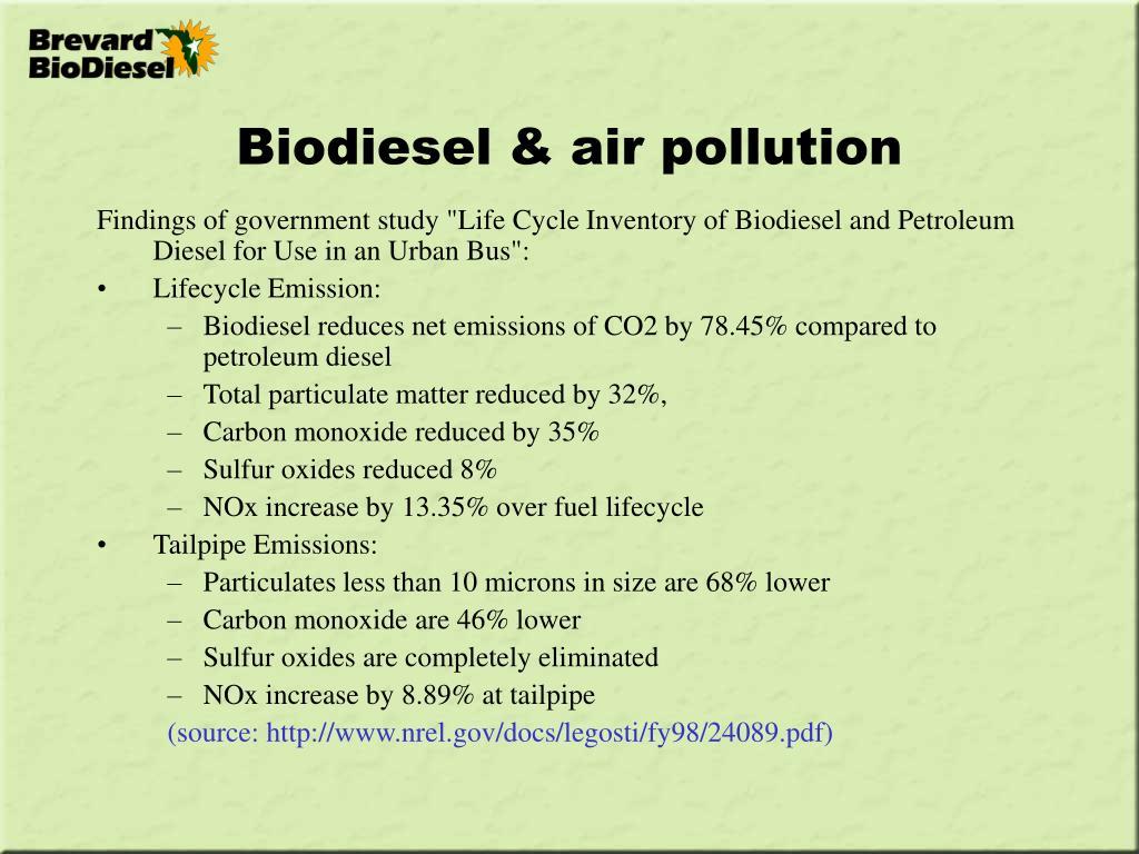 Biodiesel & air pollution