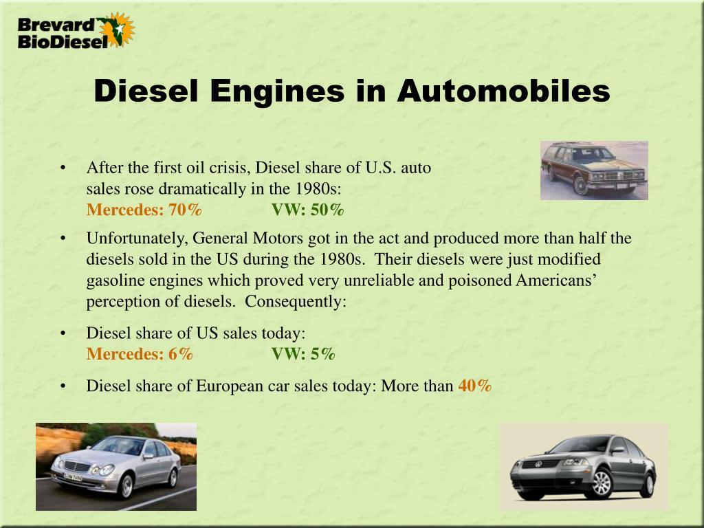 Diesel Engines in Automobiles