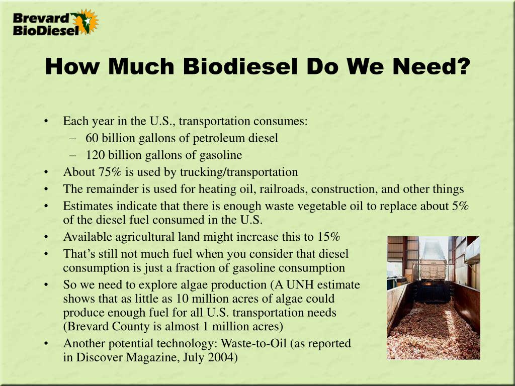 How Much Biodiesel Do We Need?