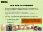 how safe is biodiesel