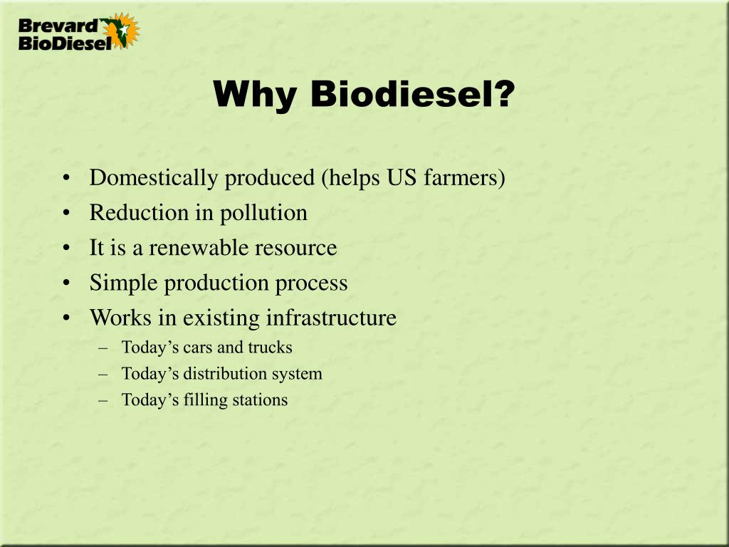 why biodiesel l.
