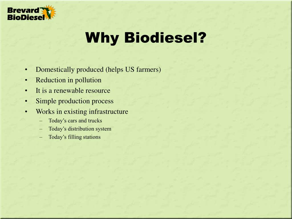 Why Biodiesel?