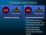 christians and culture9