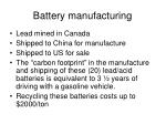 battery manufacturing