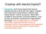 crashes with electric hybrid