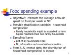 food spending example
