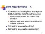post stratification 5