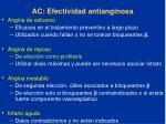 ac efectividad antianginosa