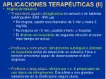 aplicaciones terap uticas ii