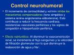 control neurohumoral