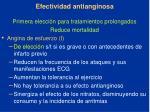 efectividad antianginosa