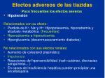 efectos adversos de las tiazidas