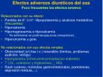 efectos adversos diur ticos del asa