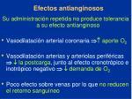 efectos antianginosos