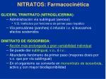 nitratos farmacocin tica