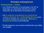 sinergias antianginosas