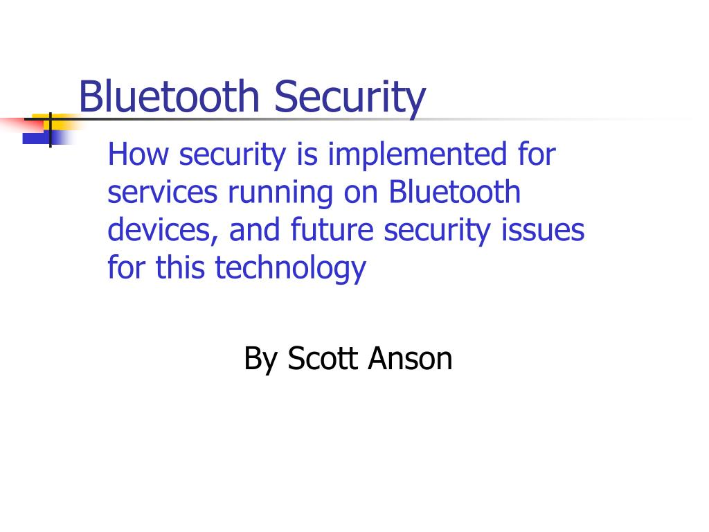 bluetooth security l.