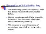 generation of initialization key