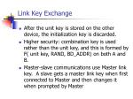 link key exchange