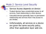 mode 2 service level security