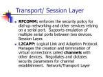 transport session layer