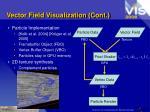 vector field visualization cont