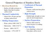 general properties of stainless steels