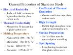 general properties of stainless steels11