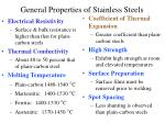 general properties of stainless steels13
