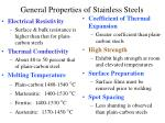 general properties of stainless steels15