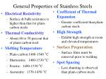 general properties of stainless steels17