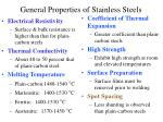 general properties of stainless steels19