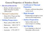 general properties of stainless steels9