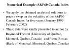 numerical example s p60 canada index42