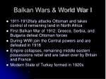 balkan wars world war i