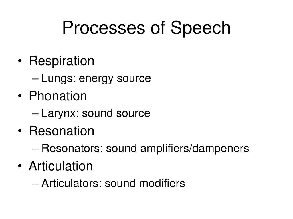 processes of speech l.
