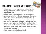reading paired selection