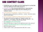 use context clues
