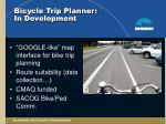 bicycle trip planner in development
