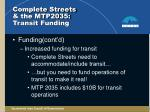complete streets the mtp2035 transit funding