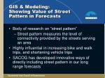gis modeling showing value of street pattern in forecasts