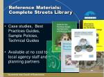reference materials complete streets library