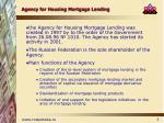 agency for housing mortgage lending